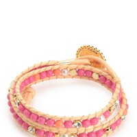 Double Wrap Beaded Bracelet by Juicy Couture