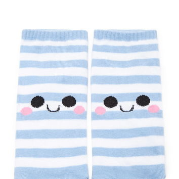 Happy Face Striped Socks