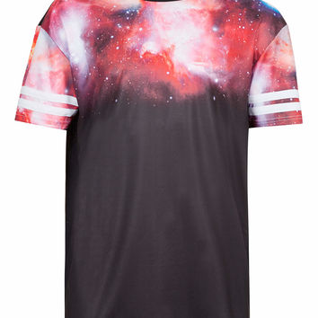 GALACTIC MESH PRINT T-SHIRT - Men's T-shirts & Tanks - Clothing - TOPMAN USA
