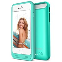 Maxboost VIVID Series 3100mAh Portable External Protective Battery Charging Case for iPhone 6/6S - Robin Egg Blue