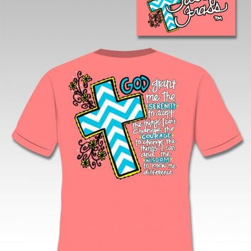 SALE Sassy Frass Funny Serenity Cross Chevron Sweet Bright T Shirt