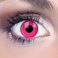 Funky Eyes Pink UV Contact Lenses | Coloured Contact Lenses