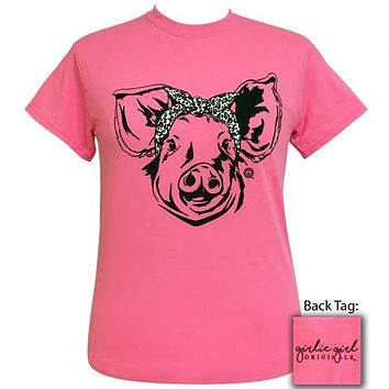 Girlie Girl Originals Preppy Bandana Pig Pink T-Shirt