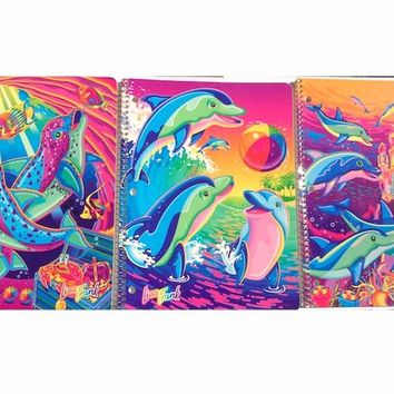 VINTAGE Lisa Frank Atlantis Dolphin Notebooks