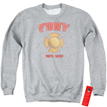FDNY Sweatshirt New York City Fire Dept Vintage Heather Pullover