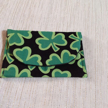 Card Holder Lucky Shamrock Green