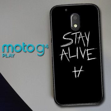 Twenty One Pilots Stay Alive X4419 Motorola Moto G4 Play Case