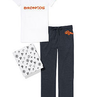 Denver Broncos V-neck Tee & Boyfriend Pant Gift Set - PINK - Victoria's Secret