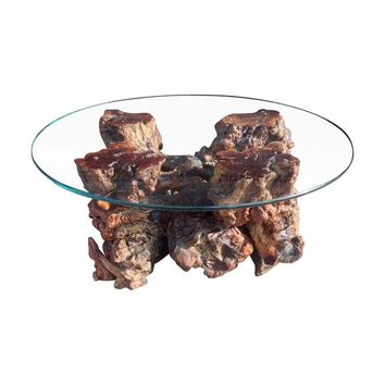 Pre-owned Mid-Century Burl Wood Coffee Table