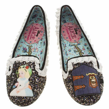 womens irregular choice multi alice how curious flats