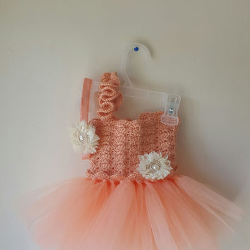 Tulle dress , Crochet tutu dress