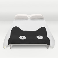 Black Cat Duvet Cover by Good Sense