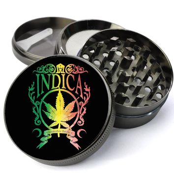 Indica Rasta Colors Jumbo 5 Piece Spice & Herb Grinder