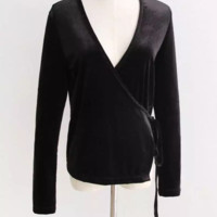 FREE SHIPPING Fall wear new slender velvet long-sleeve shawl short coat for women