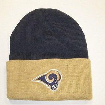 Los Angeles Rams Two Toned Cuffed Knit Hat