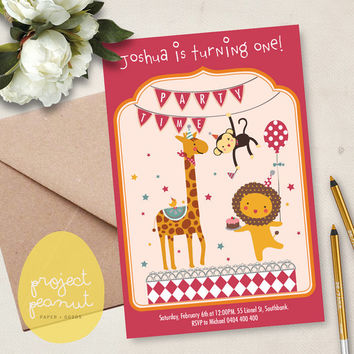 Printable Kids' Party Invitation: Zoo