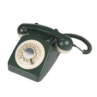 Retro Telephone in Green