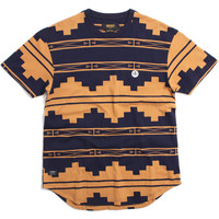 Dotted Logo T-Shirt Navy / Tan Native Pattern