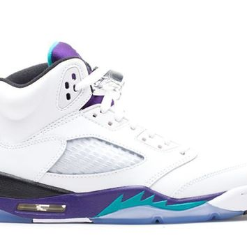spbest Air Jordan 5 Retro White Grape GS 2013