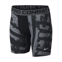 Nike Pro Core Compression GFX Boys' Shorts Size Small (Black)