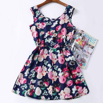 Fashion Cheap Clothes China Women Dress Print Bohemian Beach Saias Femininas Brand Casual Female Vestidos Summer Dress Style