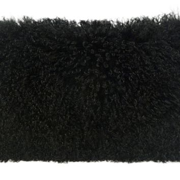 Tibetan Sheep Black Large Pillow