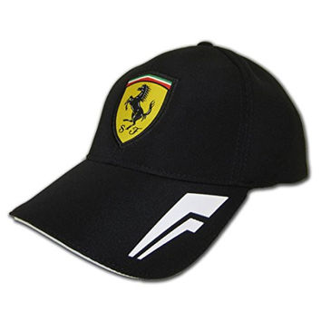 Ferrari Black Performance Fitted Hat