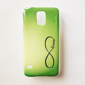 Samsung Galaxy S5 Quote Love Case Soft Plastic Infinity Galaxy S5 Back Cover Cute Samsung S5 Cover