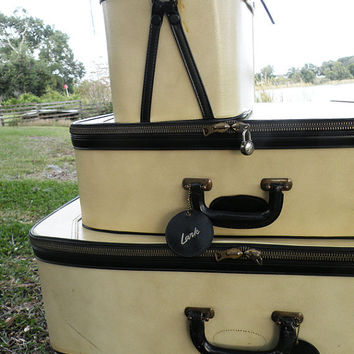 3 pc. Vintage Lark Luggage Set
