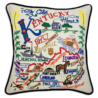 Kentucky Hand Embroidered Pillow