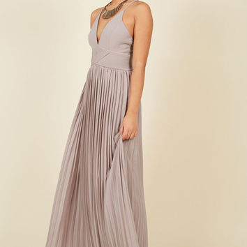 Beautifully By Your Side Maxi Dress in Stone in L