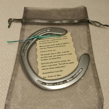 Horseshoe Painted Silver W Personal From Lucky Pony Shop