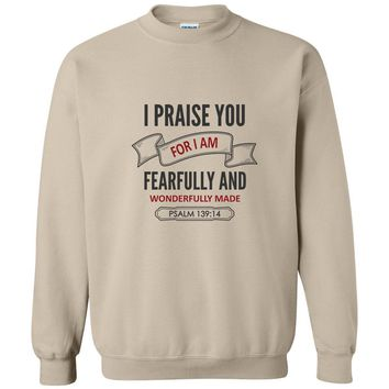Fearfully Made Christian Crewneck Unisex Sweatshirt