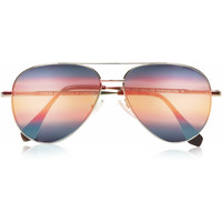 Cutler and Gross - Aviator metal mirrored sunglasses