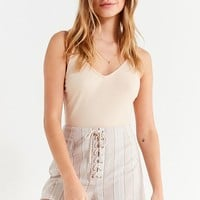 UO Tess Striped Lace-Up Short | Urban Outfitters Canada