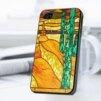 Cactus Stained Glass iPhone 4 Or 4S Case