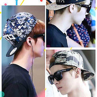 Q KPOP Luhan Baseball Cap EXO EXO-M Snapback Hat New Airport Lookings