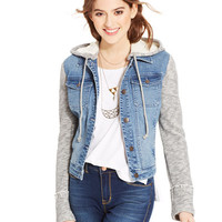 American Rag Terry Denim Jacket, Only at Macy's - Juniors Jackets & Vests - Macy's
