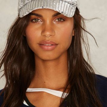Hatline Bling Sequin Baseball Cap