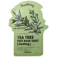 Tony Moly I'm Real - Tea Tree Face Mask Sheet - Soothing (2 pack)