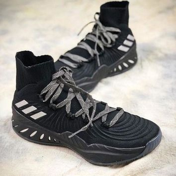 LMFUX5 Adidas Crazy Explosive Boost Black Basketball Shoes
