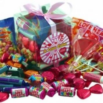 A Love Cube Packed with Retro Sweets - for Her | AQuarterOf