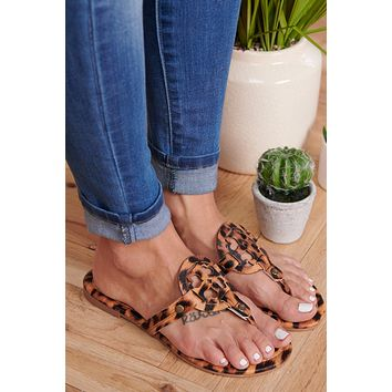Ready Now Slip On Sandals (Leopard)