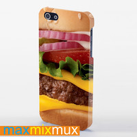 Burger Angusthird Pounder Deluxe (2) iPhone 4/4S, 5/5S, 5C Series Full Wrap Case