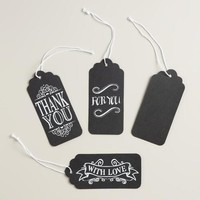 Chalk Gift Tags, Set of 9