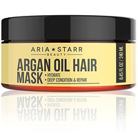 Aria Starr Argan Oil Restorative Mask Repair Hair Treatment - Best Professional Moisturizer & Deep Conditioner For Damaged, Dry, Brittle, Curly, Frizzy, Color Treated & Natural Hair