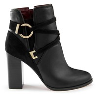 DALLAS Black Circle Wrap Ankle Boots | Missselfridge