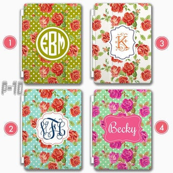 Flower Personalized iPad Air 2 smart cover , Customized Samsung note 4 case , Monogram ipad 4 , ipad mini case, iPhone 6 case iPhone 5 case