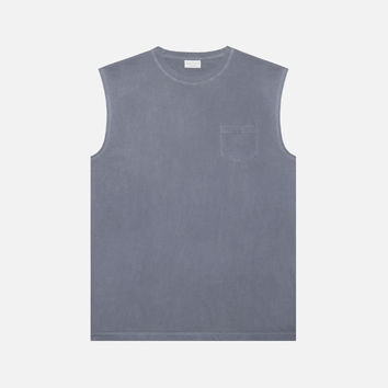 Sleeveless Pocket Tee / Navy
