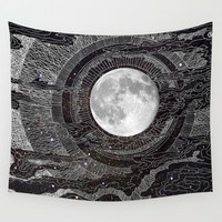 Moon Glow Wall Tapestry by Brenda Erickson